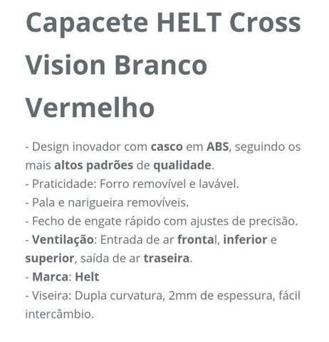 Capacete HELT CROSS VISION POWER 58' - Foto 2
