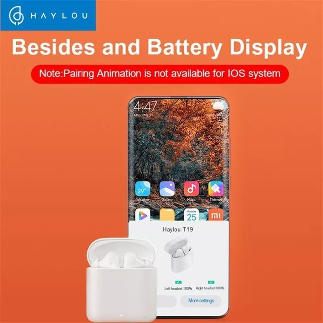 Haylou T19 TWS - Fone Bluetooth 5.0 - aptX - Xiaomi - Android e iOS - Foto 3
