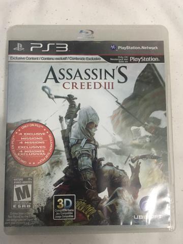 Jogo Assassin?s Creed 3 para ps3