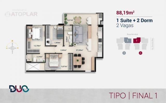 Apartamento com 3 dormitórios sendo 01 suíte à venda, 88 m² por r$ 563.813 - praia brava - - Foto 2