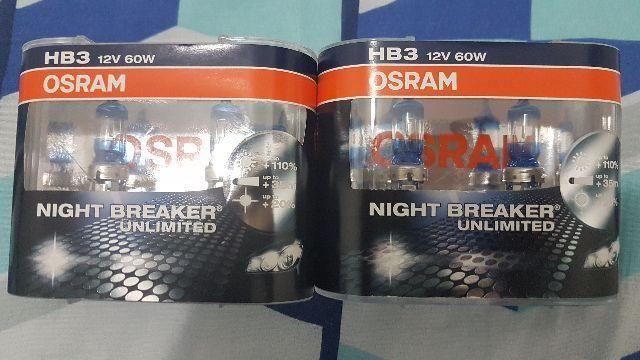 Lampada Osram Night Breaker Unlimited Hb3 Par Farol 110% Luz