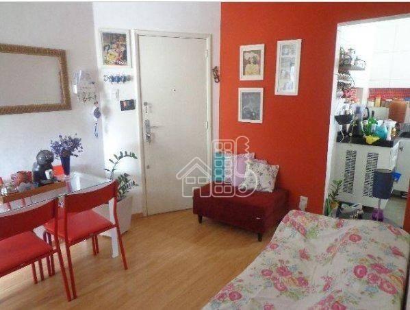 Apartamento com 1 dormitório à venda, 50 m² por R$ 302.100,00 - Icaraí - Niterói/RJ - Foto 2