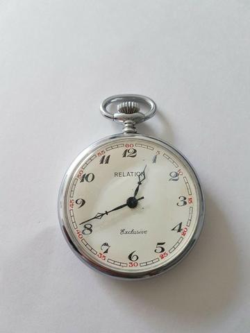 212f5ed3367 Relógio De Bolso Suiço Marca Relation - Antiguidade - Antiguidades ...