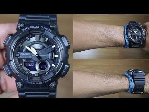 8cd1969cb9b Relógio Casio Analógico E Digital Aeq-110w-1bv - Bijouterias ...
