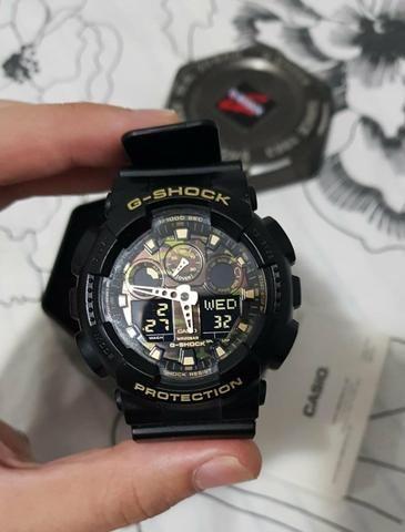 d6920032495 Relógio G-Shock Autêntico Preto Camuflado - Bijouterias