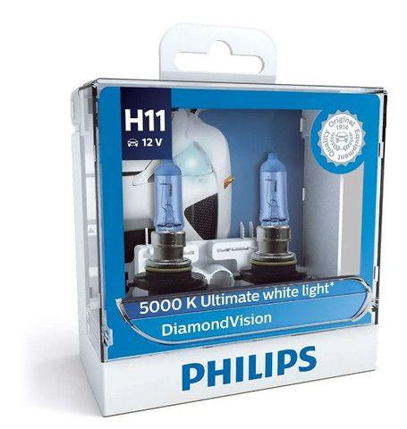 Lâmpadas Philips Super Branco Diamond Vision Hir2 9012 Originais - Foto 2