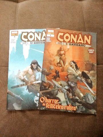 """Revistas em quadrinhos (HQs) do """"Conan, o bárbaro"""""""