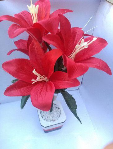 Planta Vermelha Lírio ( Para Decoração )