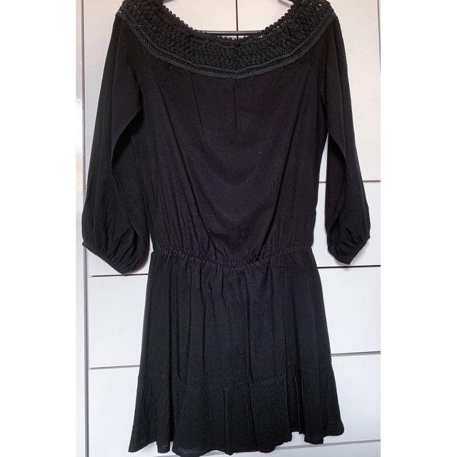 Vestido preto meia estação - Foto 2