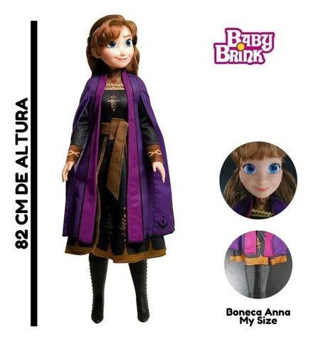 Boneca Anna (Frozen 2 /Disney) 80 cm em perfeito estado  - Foto 6