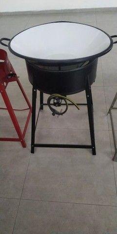 Pasteleiro/Fritador Grande Preto com Tacho 26 Branco Novo Alta Pressão (Entrega) - Foto 2