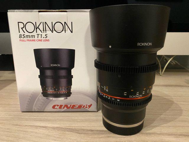 Lente Rokinon 85mm T1.5 cine para Sony