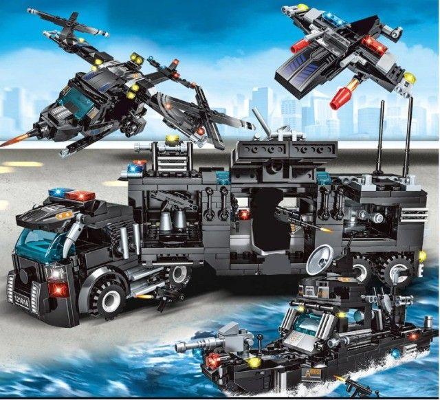 Lego Blocos de Montar Police Presente Swat Brinquedo  - Foto 2