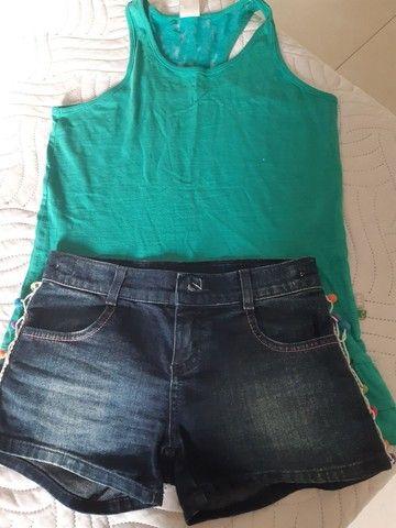 Conjuntos de shorts e blusas infantojuvenil  - Foto 3