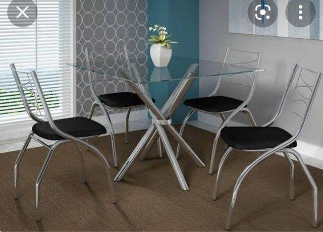 Mesa volga 4 cadeiras zap *