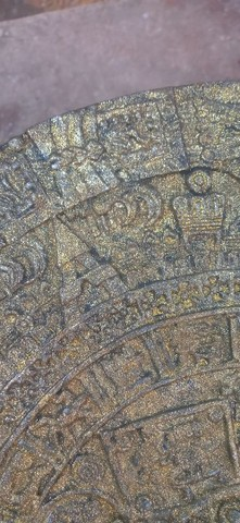 Calendário Asteca Envelhecido - Foto 3