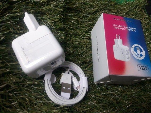 Carregador Fonte + Cabo Lighting iPhone iPad Bivolt 12w Usb - Foto 4