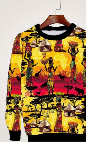 Casacos  franelado Afro - Foto 2