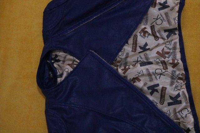 Jaqueta de couro sintético Old school- Tam. M - Foto 5