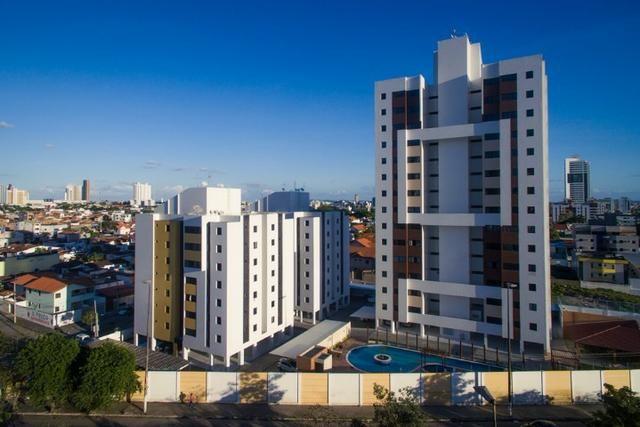 Apartamentos com área de lazer completa e 1 garagem coberta