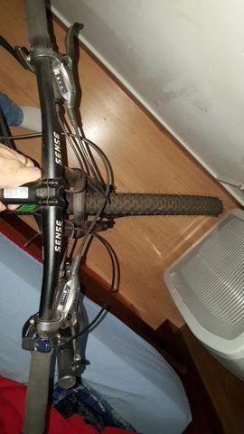 """Bicicleta Sense Impact Pro 29"""" + Sapatilha + Transbike - Foto 5"""