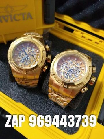 a3e78af6211 Invicta zeus bolt Gold série Ouro - Bijouterias