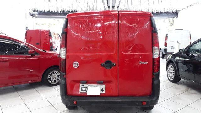 Fiat Doblo Cargo 1.4 Flex 2014 Vermelha Ar e Direção Doc OK - Foto 3