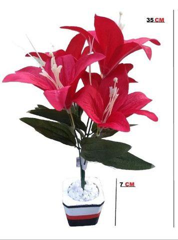 Planta Vermelha Lírio ( Para Decoração ) - Foto 2
