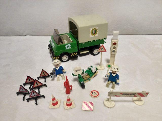 Kit Playmobil Trol Antigos, anos 1970, Caminhão, Carros, Polícia, Ferramentas - Foto 5