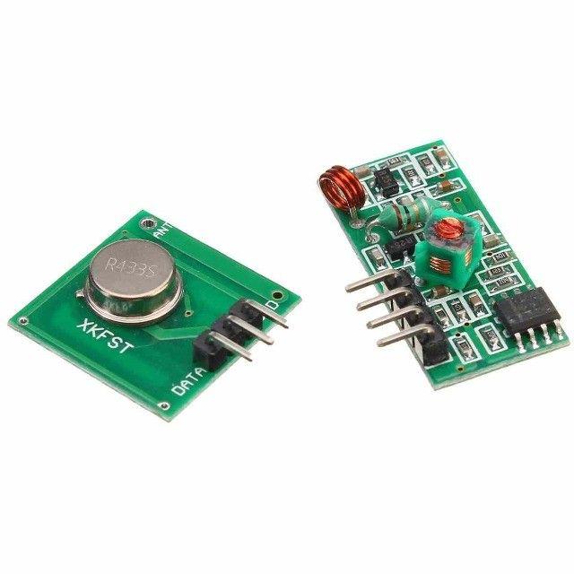 Módulo Rf Transmissor Receptor 433mhz Arduino Rx Tx - Foto 2