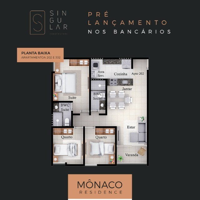 Apartamento nos Bancários com 2/3 quartos e varanda. Pronto para morar  - Foto 2