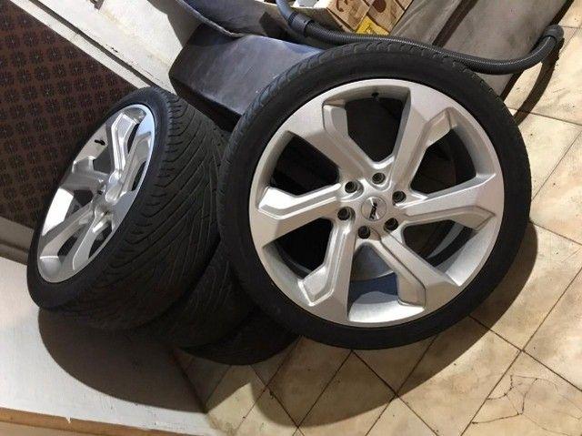 Rodas aro 22 com pneu - Foto 3