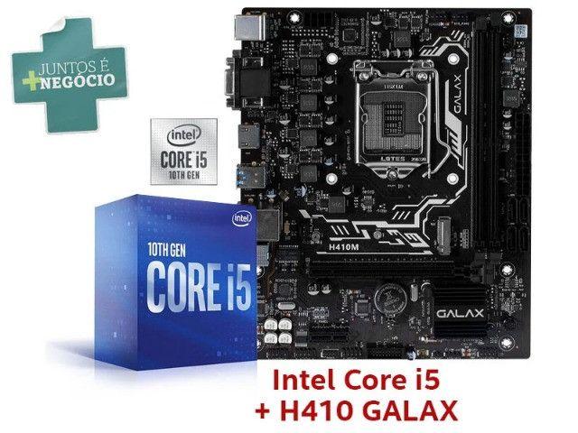 Core i5-10400 2,90ghz + placa mãe galax h410m ddr4 2666mhz vga dvi hdmi