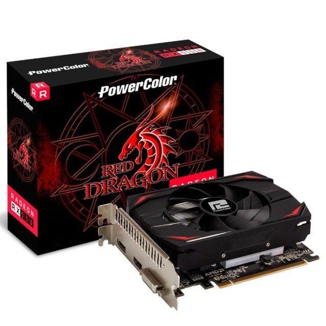 Placa de video power color radeon rx 550 2gb