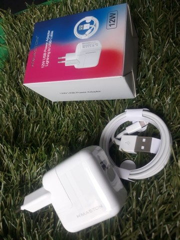 Carregador Fonte + Cabo Lighting iPhone iPad Bivolt 12w Usb - Foto 5