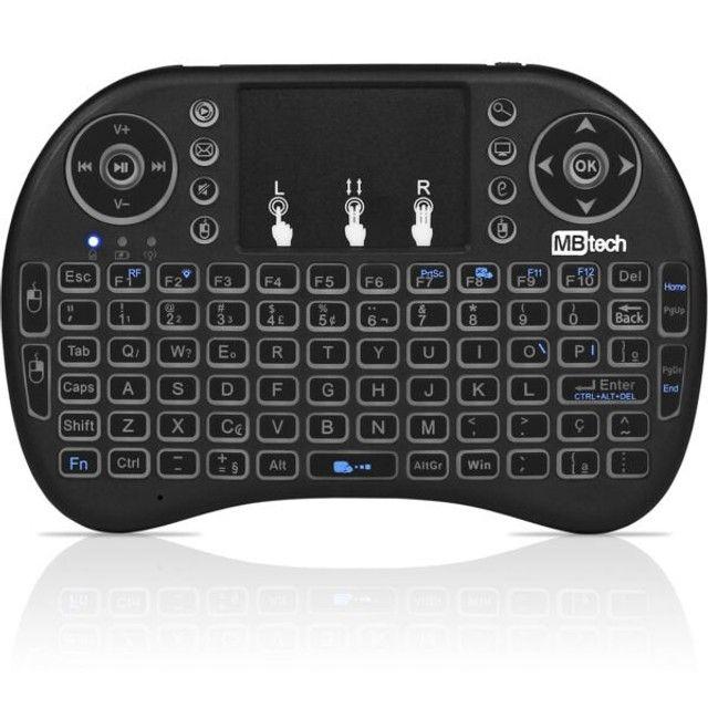 Mini Teclado Touchpad Wireless 2.4G Com Led Mbtech - Loja Dado Digital  - Foto 2