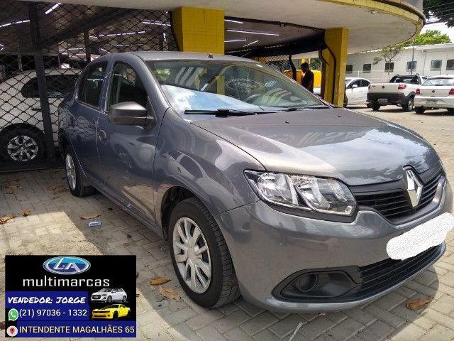 Renault Logan Authentic 2020 _ entrada apartir de 10mil + 48x 727,00 fixas