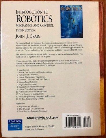 "Livro ""Introduction to Robotics - Mechanics and Control"" 3rd edition - Foto 3"