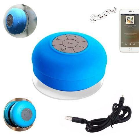 Mini Caixa Som Bluetooth Portátil Prova De Água Ventosa Várias Cores - Foto 6