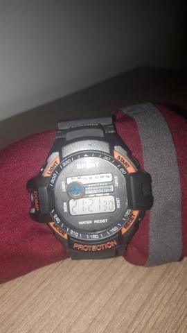 75ad95f5c6e Relógio casio sport protection laranja e preto - Bijouterias ...