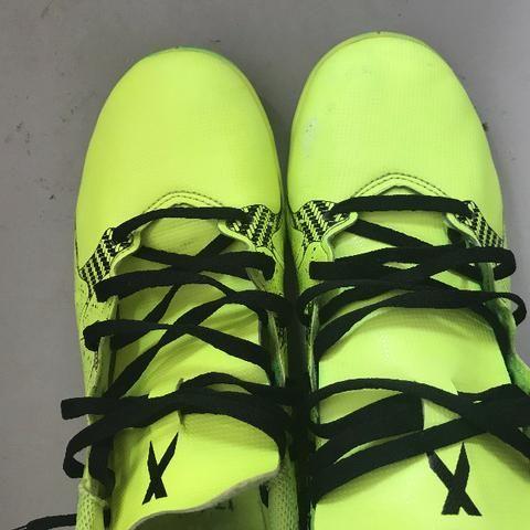 49af1e6740 Chuteira Futsal Adidas X 15 4 IN Masculina Verde Claro Aceito Trocas ...