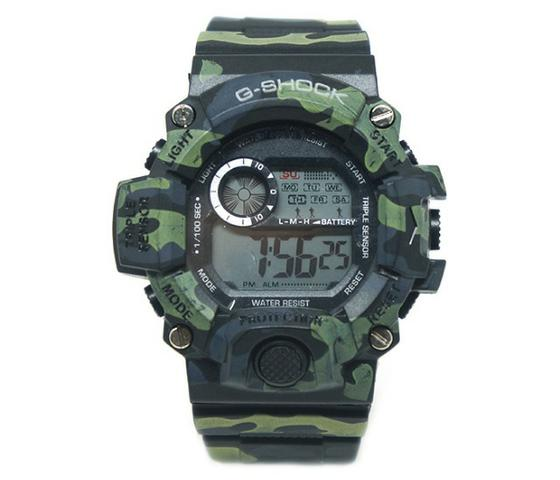d9496cb75ad Relógio Digital Casio G-Shock Camuflado Verde e Preto - Bijouterias ...