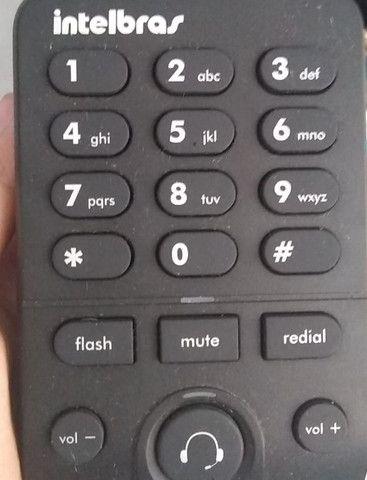 Telefone intelbra headset  - com base discadora hsb