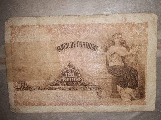 Cédula 1917 Portugal 1 Escudo - Foto 2
