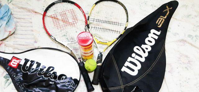 Três raquetes de tênis 350 reais  - Foto 4