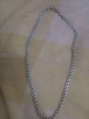 Cordão prata pura
