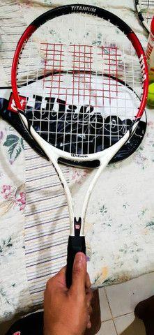 Três raquetes de tênis 350 reais