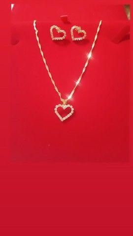 Conjunto na semi jóias  - Foto 3