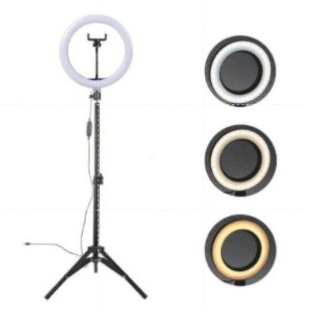 Ringh light 26cm com tripé de 2,1m - Foto 2