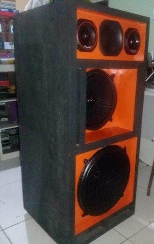 caixa de som completa fones de 12 e 15 magnun 350w novos - Foto 3
